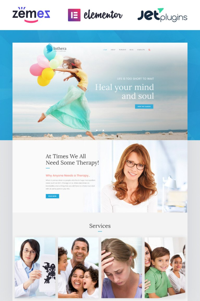 Inthera - Counseling Centre WordPress Theme WordPress Theme New Screenshots BIG