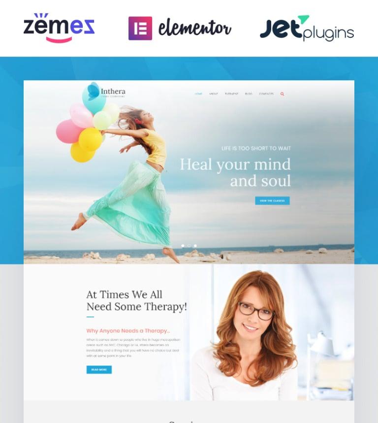 Inthera - Counseling Centre WordPress Theme WordPress Theme