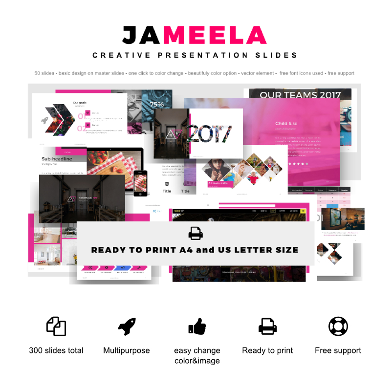 Jameela beautifully creative presentation PowerPoint Template