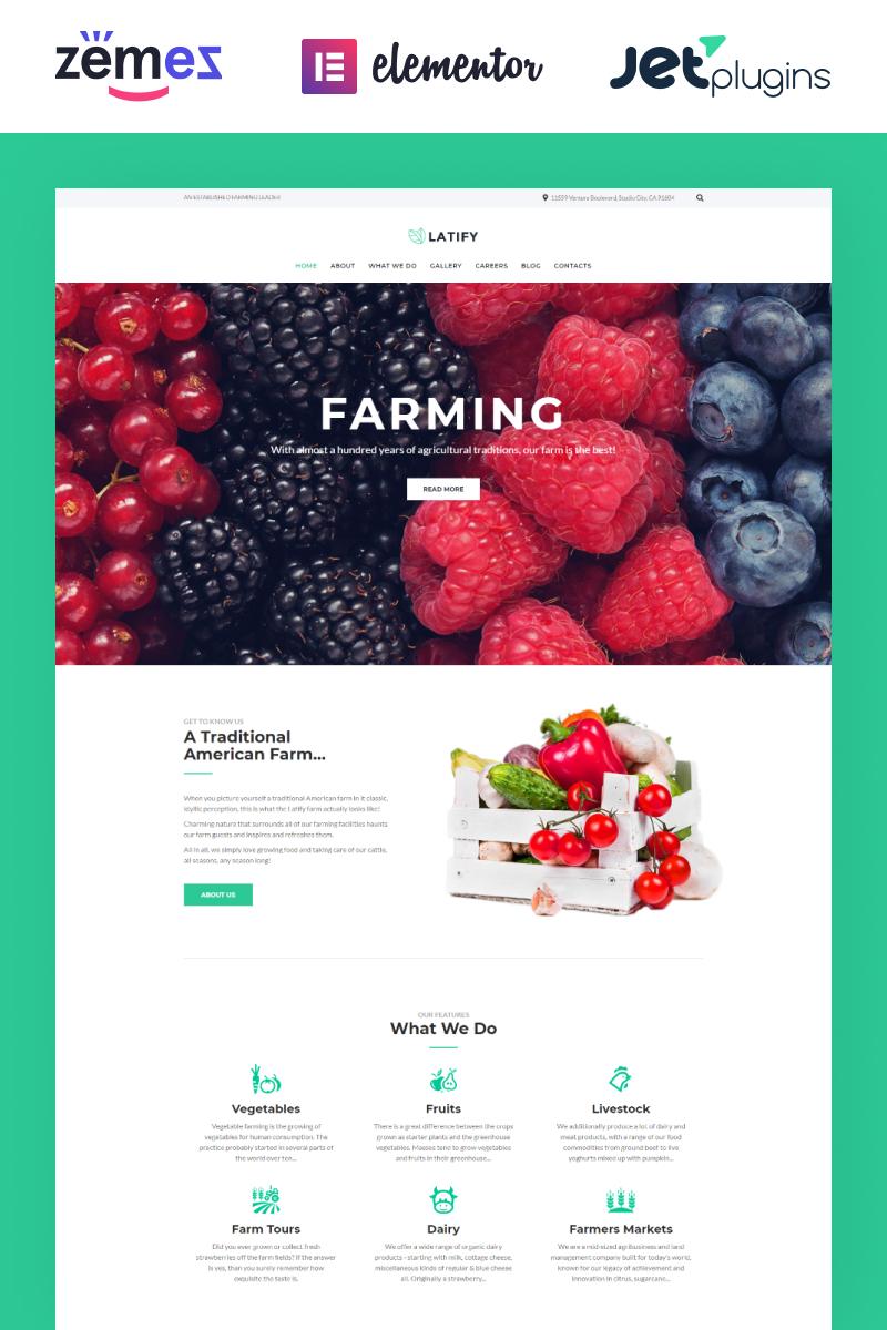 """Latify - Private Farm Responsive"" - адаптивний WordPress шаблон №63957"