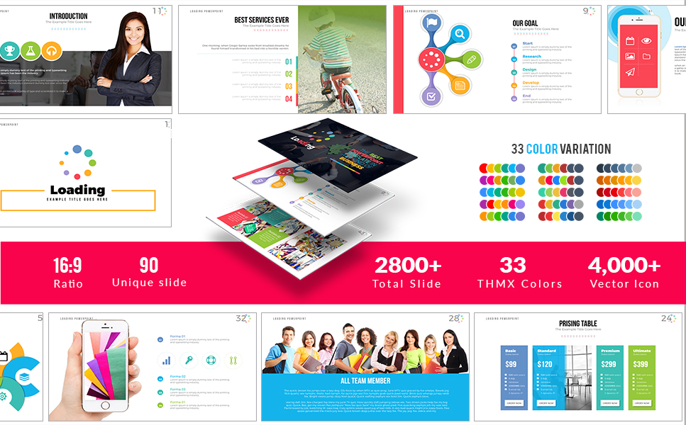 """""""Loading"""" PowerPoint Template №63990"""