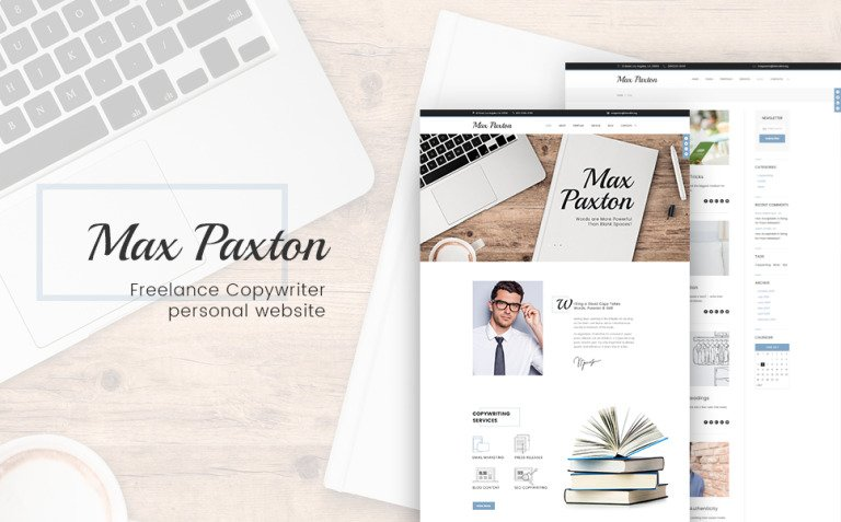 MaxPaxton - Freelance Copywriter and Journalist WordPress Theme New Screenshots BIG