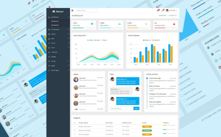 Meter - Responsive Dashboard Admin Template New Screenshots BIG