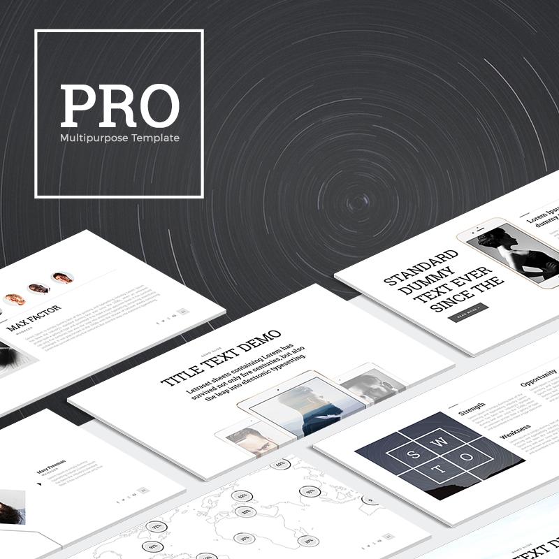 """Modello PowerPoint #63983 """"PRO Multipurpose"""""""