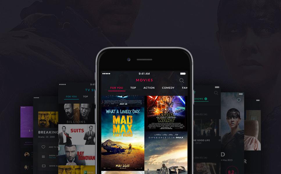 MOOOV Movie & Tvshow mobile template UI Elements #63910