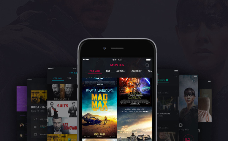 MOOOV Movie & Tvshow mobile template UI Elements New Screenshots BIG