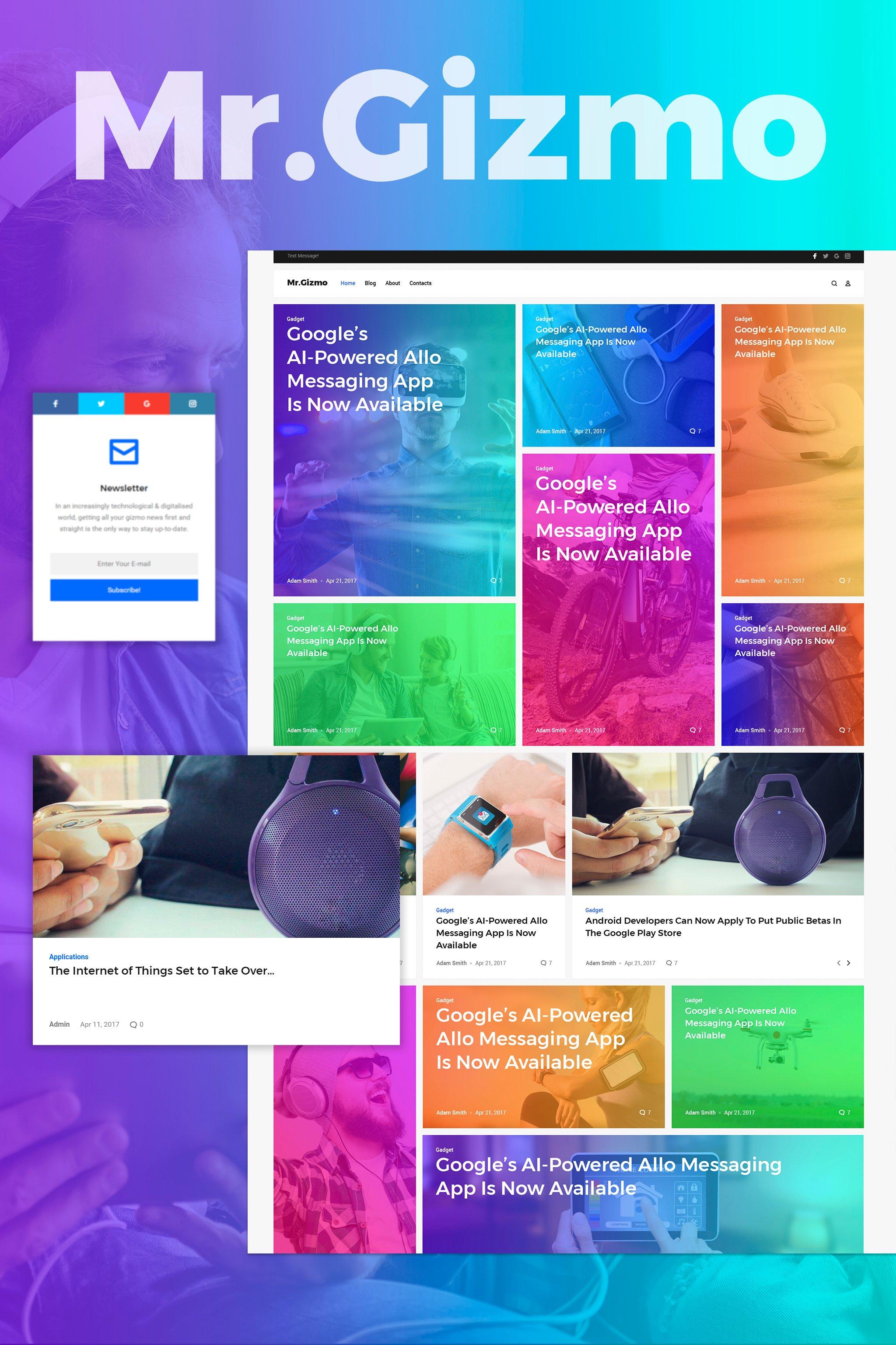 """Mr. Gizmo - Responsive Technology & Gadgets Blog WordPress Theme"" Responsive WordPress thema №63987"