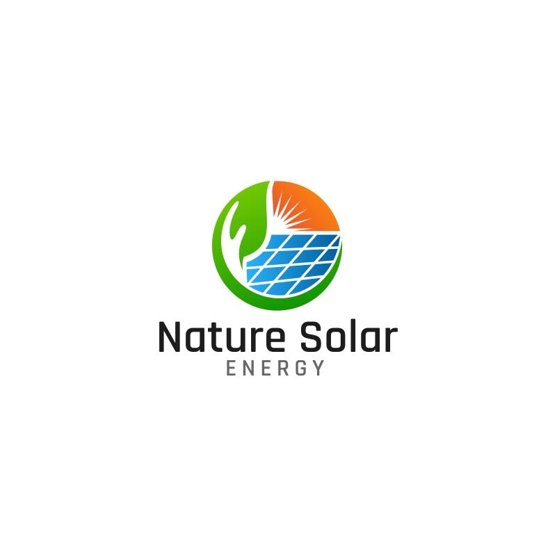 nature solar energy logo template 63901