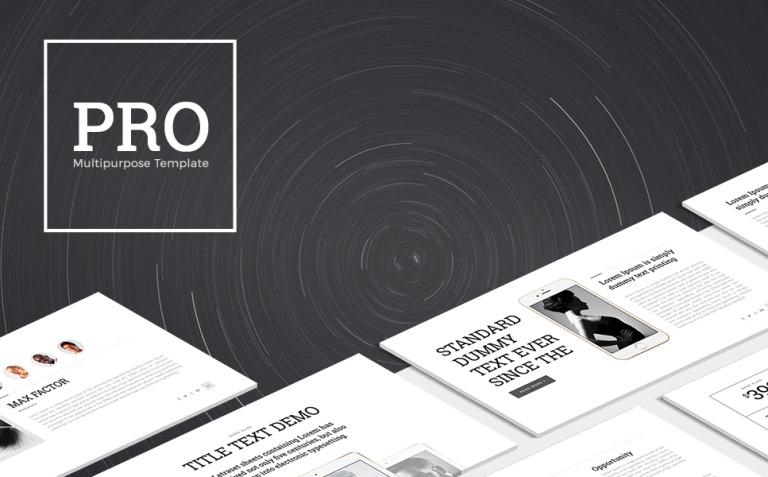 PRO Multipurpose PowerPoint Template New Screenshots BIG