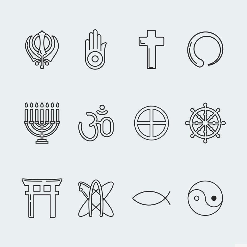 Religion vector icon set vol. 3 Iconset-mall #63930 - skärmbild