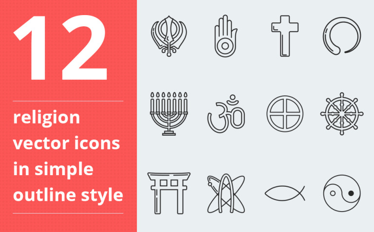 Religion vector icon set vol. 3 Iconset Template New Screenshots BIG