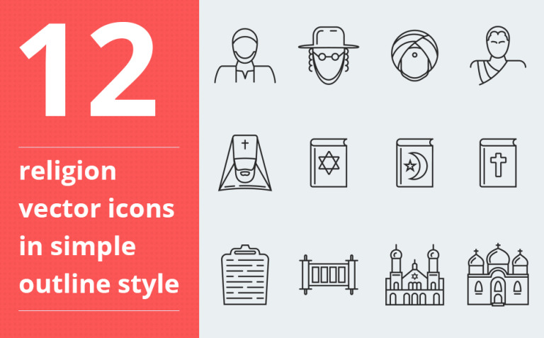 Religion vector icons vol.1 Iconset Template New Screenshots BIG