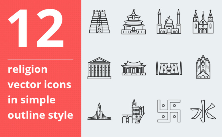 Religion vector vol.2 Iconset Template New Screenshots BIG