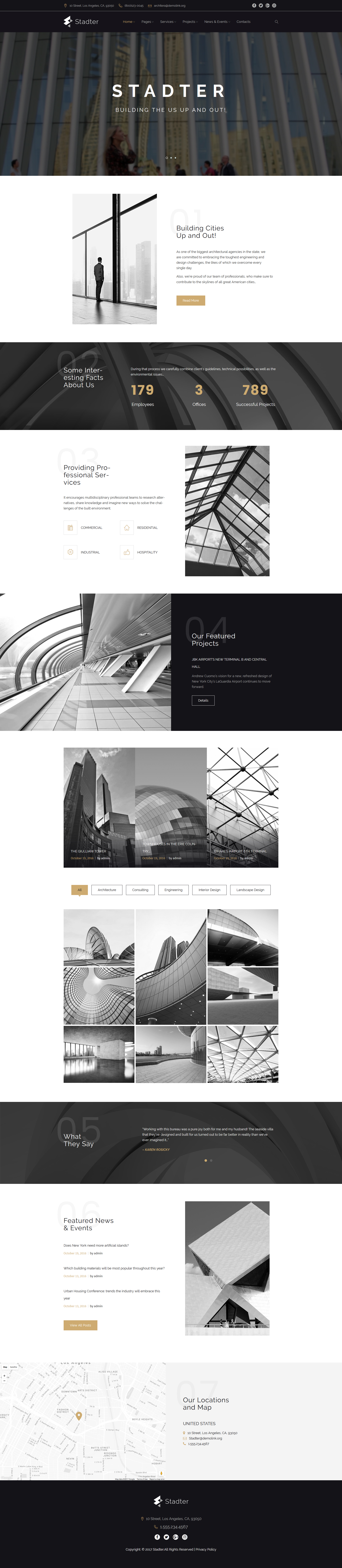 Responsive Stadter - Construction Company Wordpress #63956 - Ekran resmi