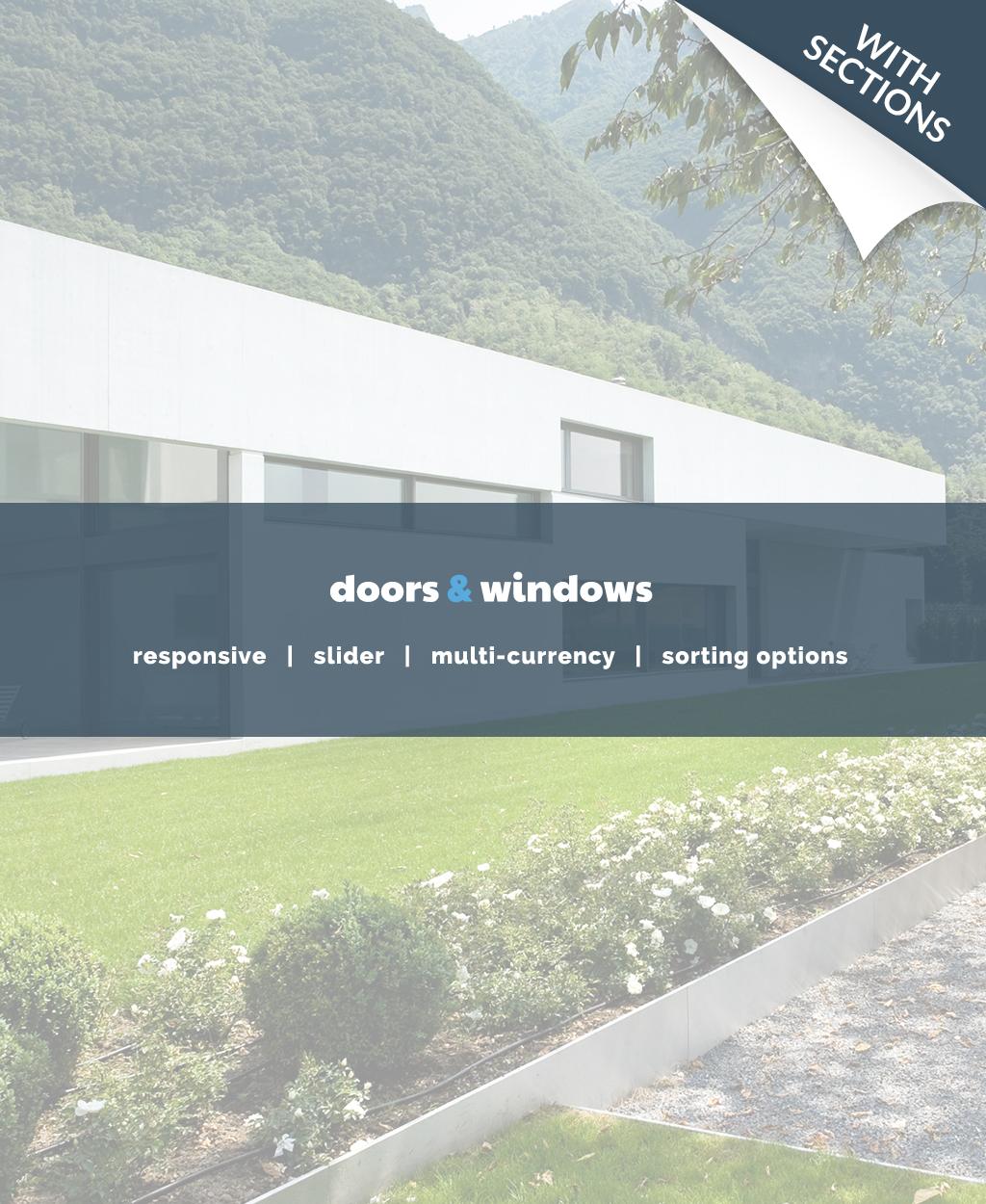 Reszponzív Ablakok témakörű Shopify sablon 63914 - képernyőkép