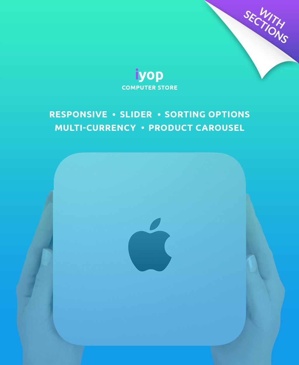 Reszponzív Számítástechnikai üzlet Shopify sablon 63965