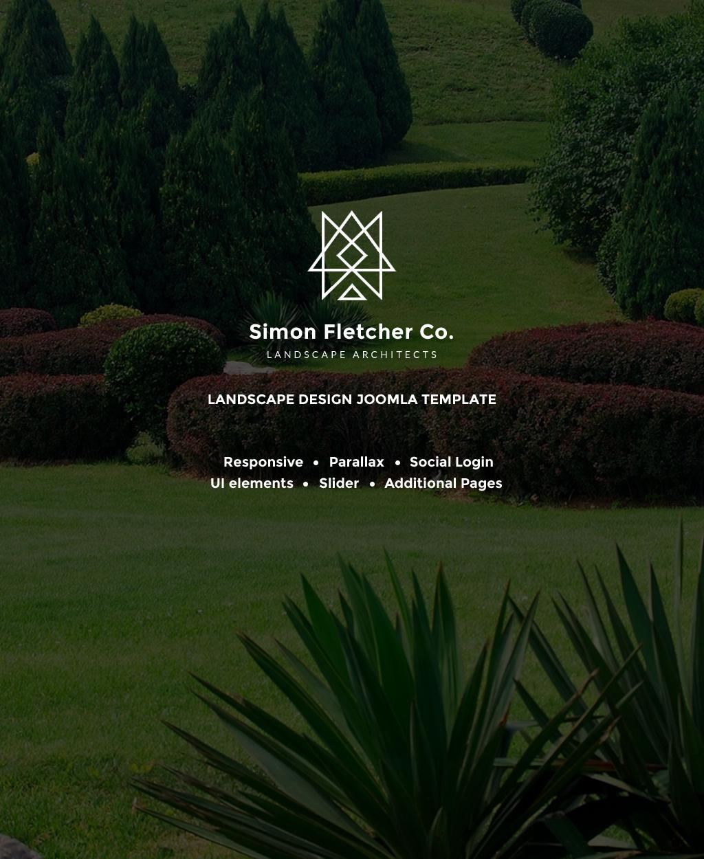 """Simon Fletcher - Landscape Architects"" 响应式Joomla模板 #63991"