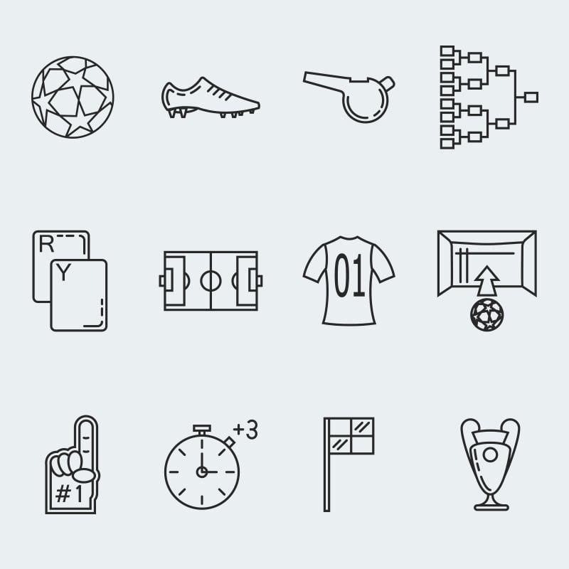 """Soccer vector"" 图标集模板 #63917"