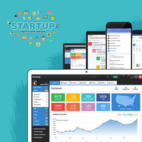 Startup - Admin Template