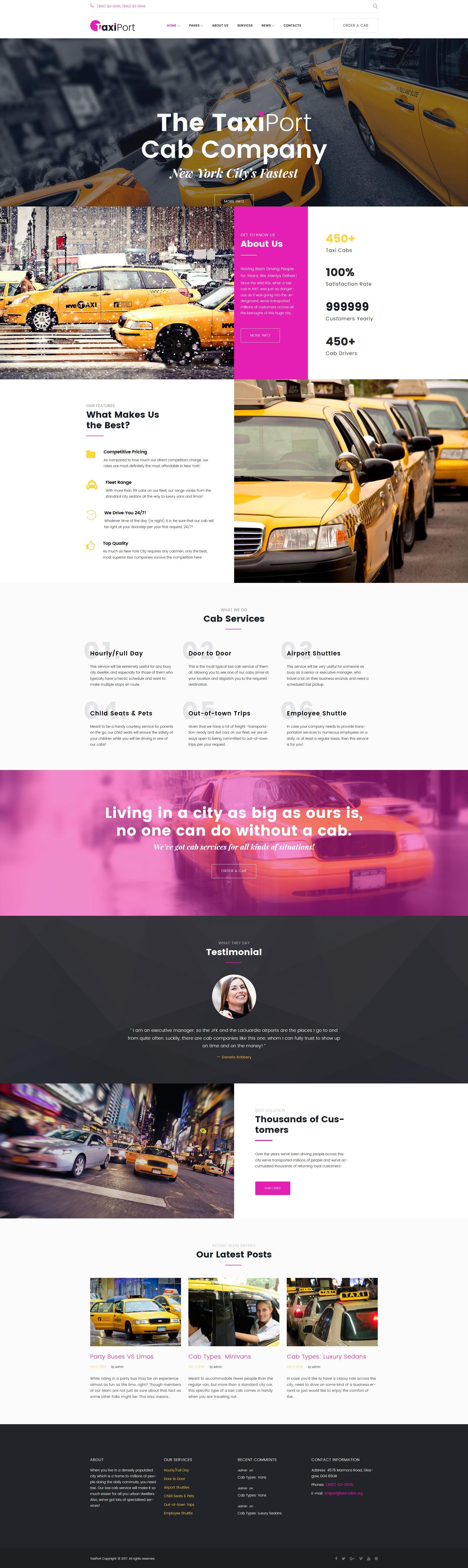 TaxiPort - Cab Company WordPress Theme