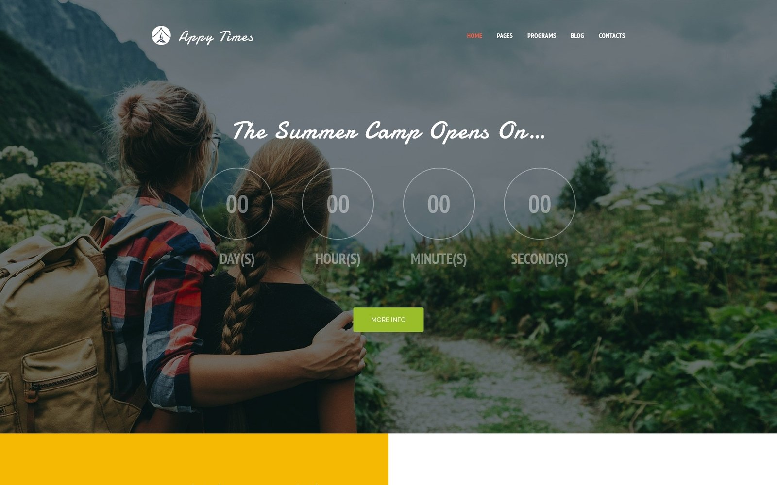 "Tema De WordPress ""AppyTimes - Summer Camp"" #63919"