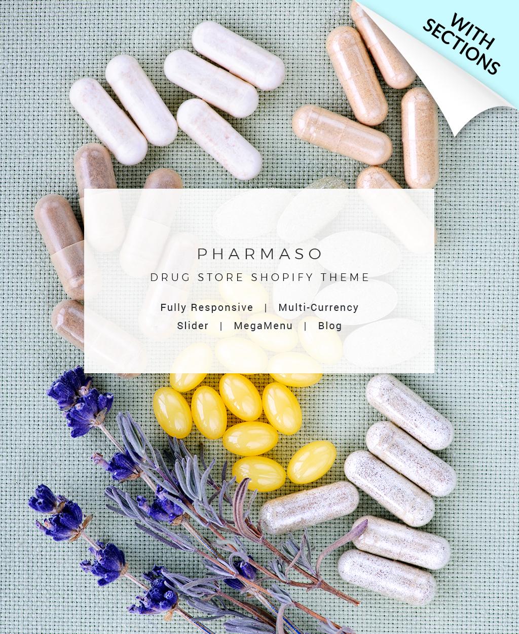 "Tema Shopify ""Pharmaso - Drug Store"" #63974"