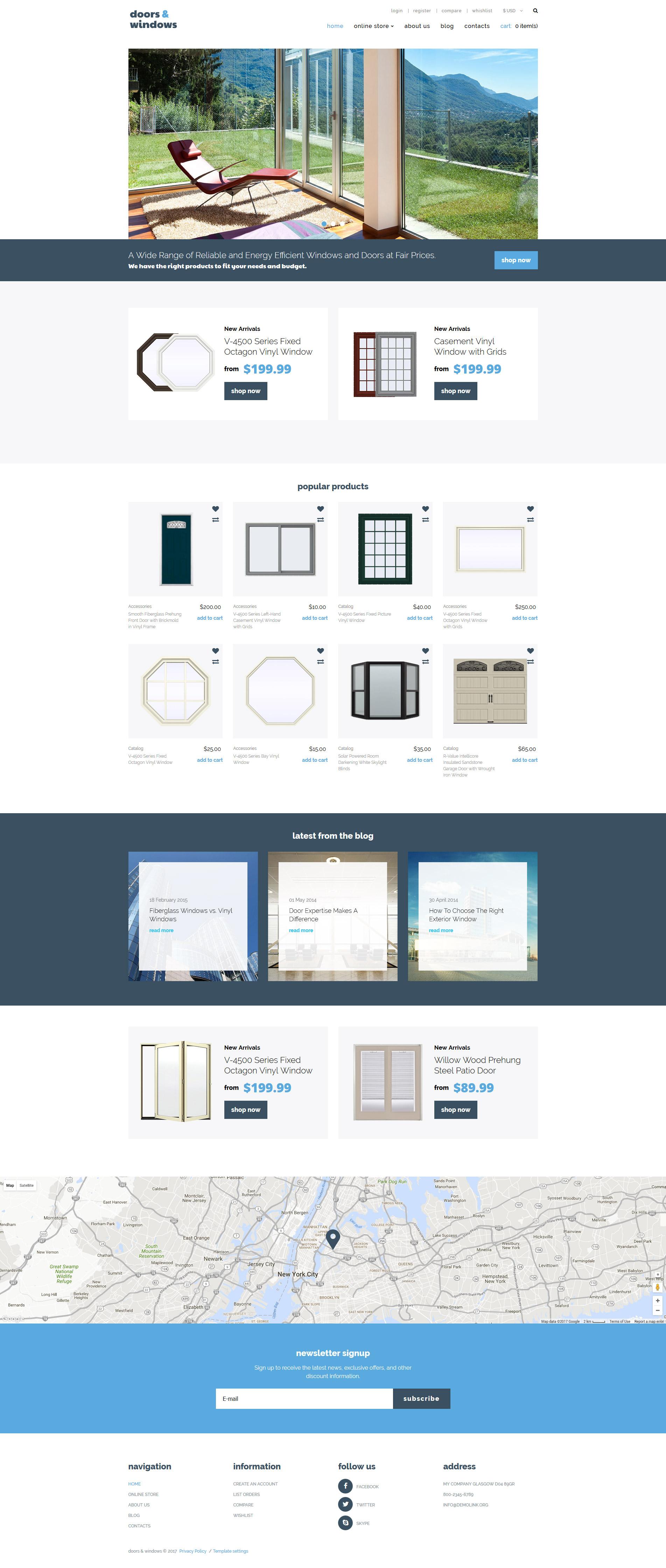 Thème VirtueMart pour site d'entreprises de fenêtres #63915