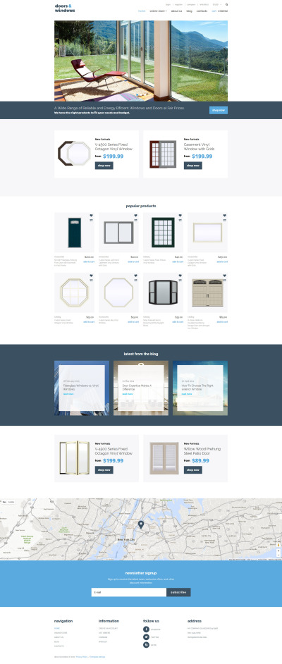 Thème VirtueMart  pour site d'entreprises de fenêtres