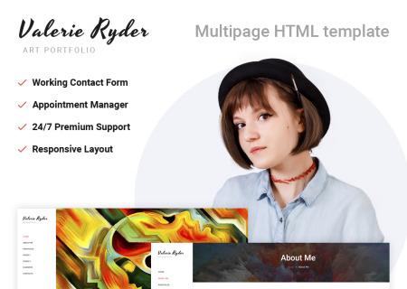 Artist Portfolio Responsive HTML5