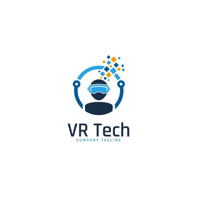 virtual reality technology logo template 63905