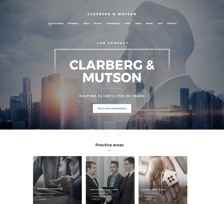 Weblium Law Firm website concept New Screenshots BIG