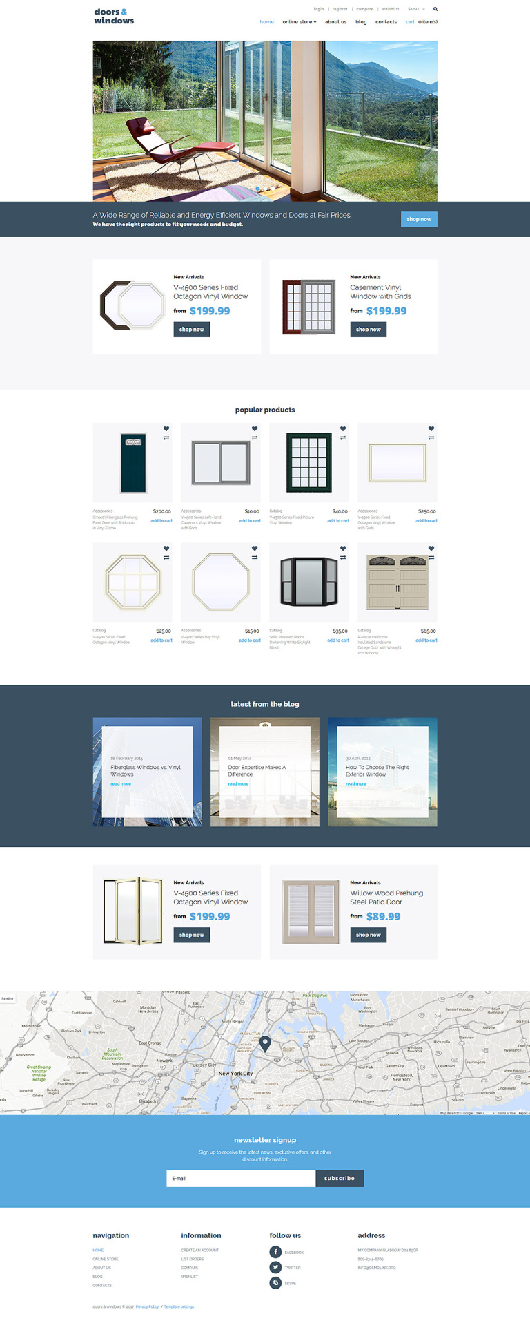 Windows & Doors Responsive VirtueMart Template New Screenshots BIG