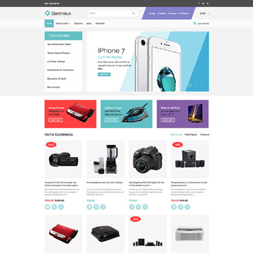 Preview image of Electronics VirtueMart Template No. 64014