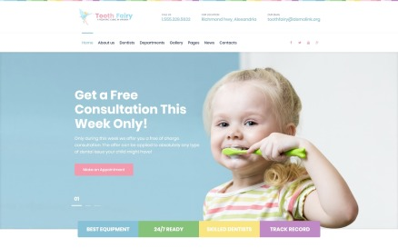 Tooth Fairy - Pediatric Dentistry WordPress Theme