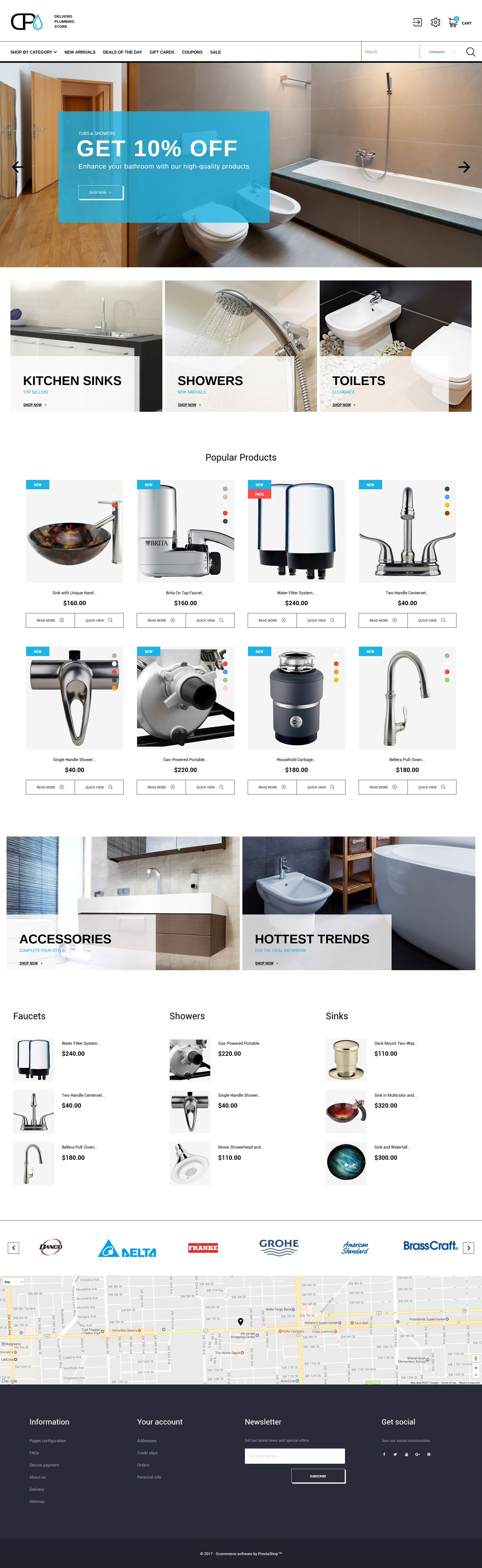 Website Design Template 64022 - store supplies company drain heating system installation preventive maintenance repair spanner tools sewer tap faucet sink employment staff master plumber tips hint standard offer experience special expert