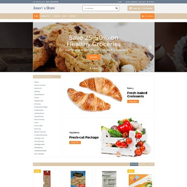 Preview image of Food & Drink VirtueMart Template No. 64033