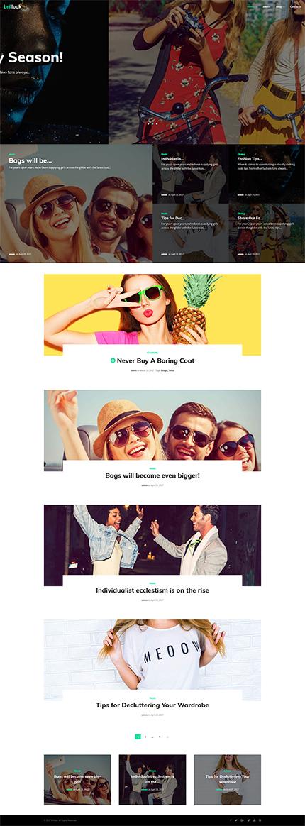 Brillook - Fashion Blog Responsive