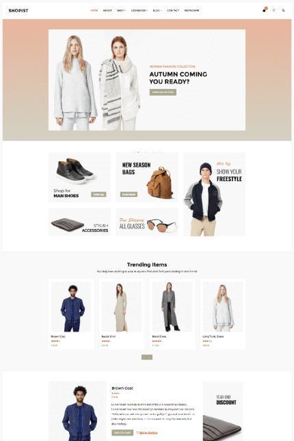 Shopist - Responsive Stylish eCommerce