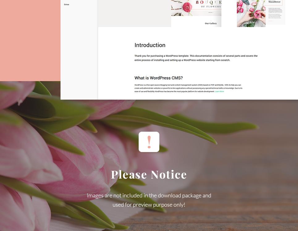 Moon Flower Flower Shop Wordpress Theme 64080