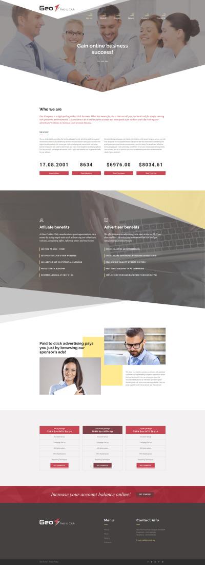 Адаптивный Joomla шаблон №64032 на тему бизнес услуги