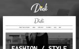 Адаптивный WordPress шаблон №64081 на тему блог о моде