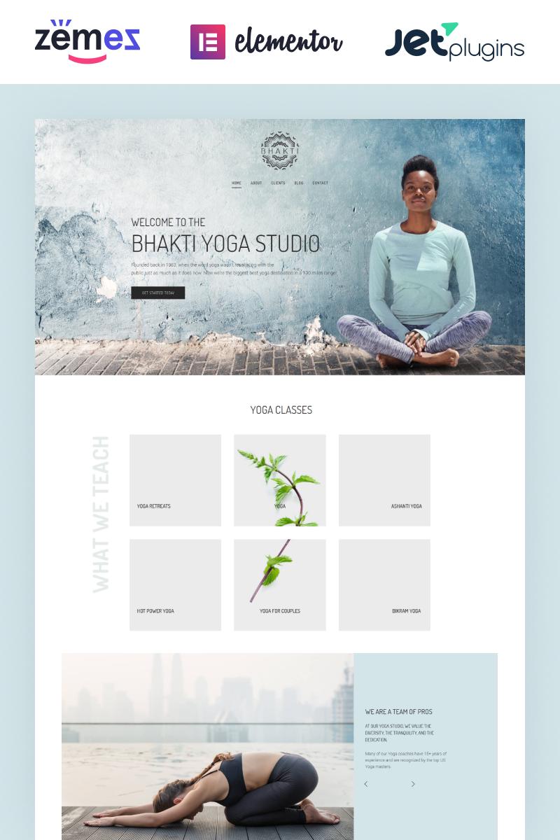 Адаптивный шаблон сайта на тему йога #64088