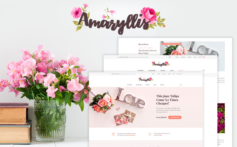 Amaryllis - Flower Shop WooCommerce Theme New Screenshots BIG