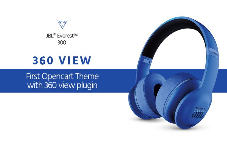 Audio Store with 360 view plugin OpenCart Template New Screenshots BIG