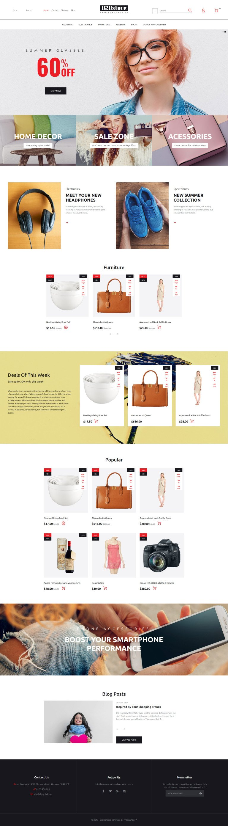 B2Bstore PrestaShop Theme New Screenshots BIG