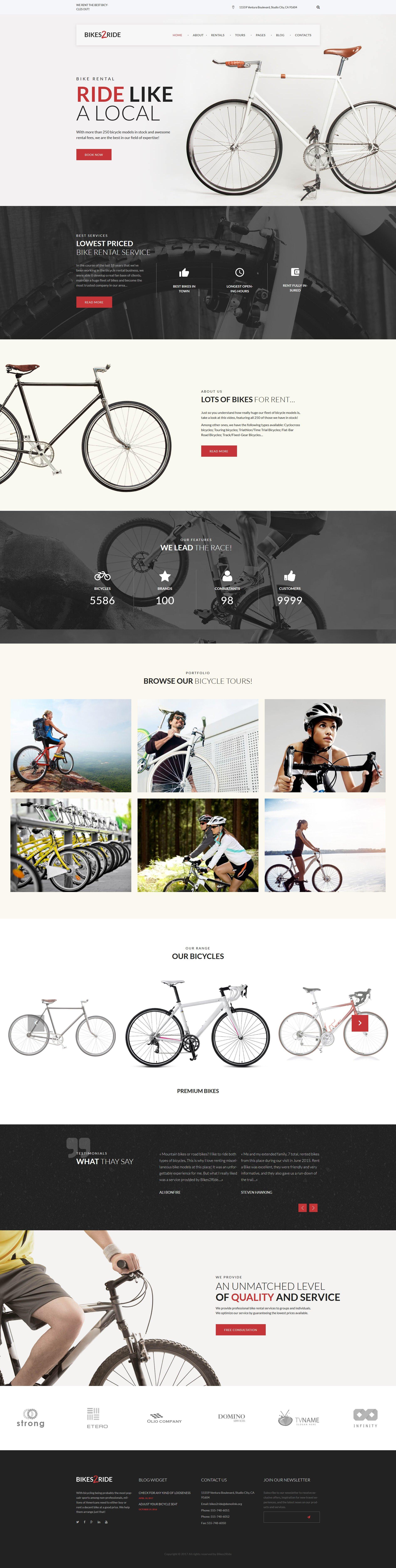 """Bikes2Ride - Cycling"" - адаптивний WordPress шаблон №64031"