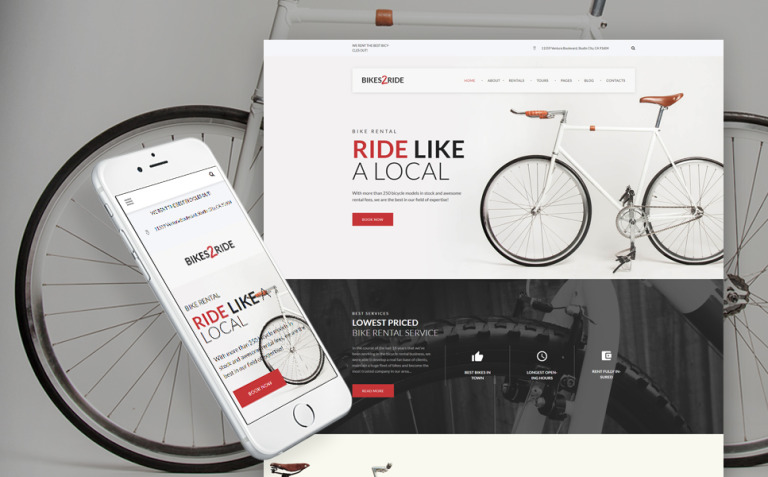 Bikes2Ride - Cycling WordPress Theme New Screenshots BIG
