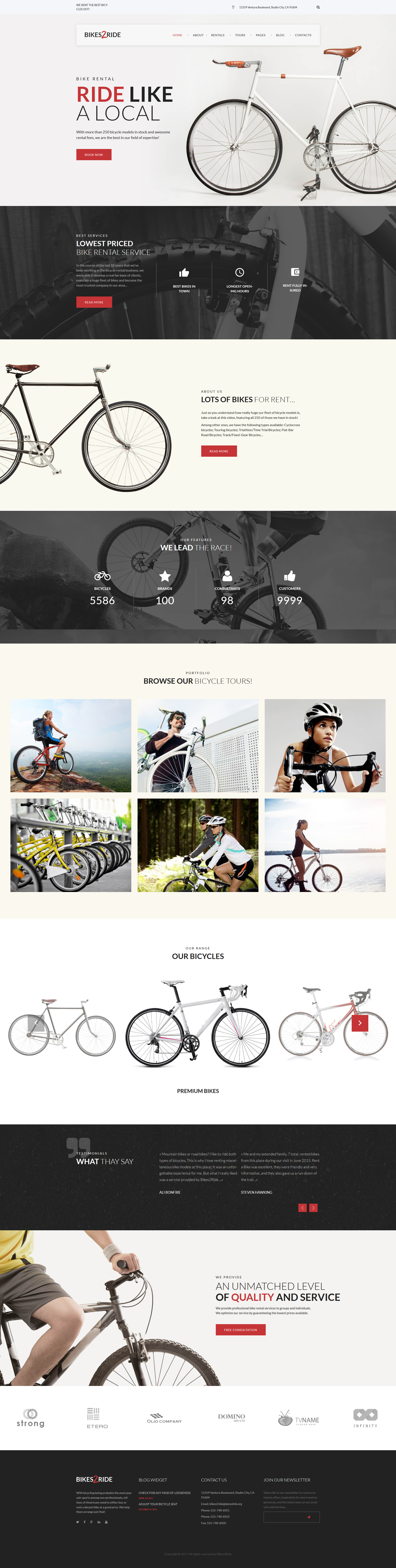 Bikes2Ride - Cycling WordPress Theme