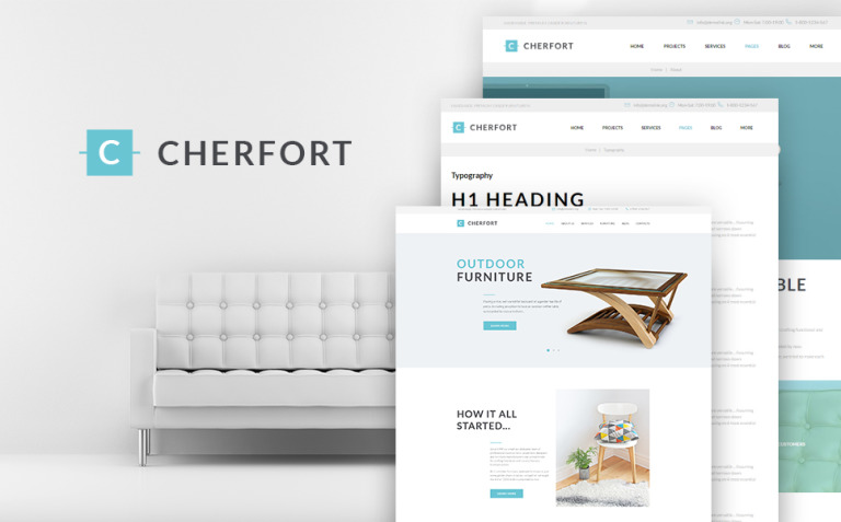 Cherfort - Furniture Company Responsive WordPress Theme New Screenshots BIG