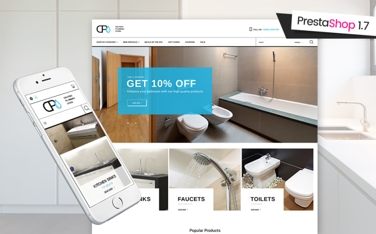 Delvero Plumbing PrestaShop Theme New Screenshots BIG